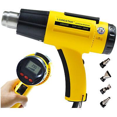 Hot Air Heat Gun 2000W 220V LCD Digital Industrial Temperature adjustable Nozzle