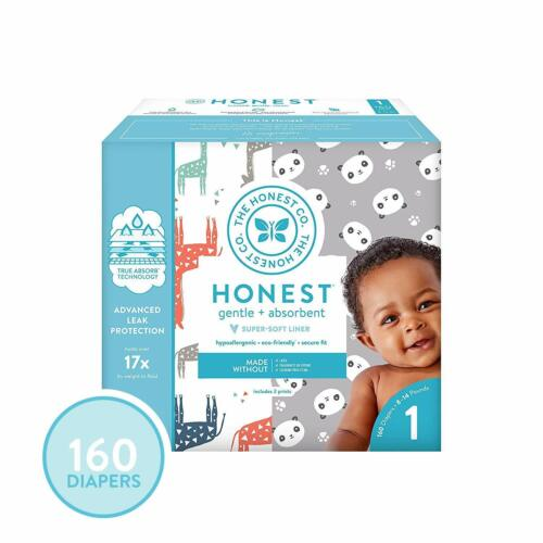 The Honest Company Super Club Box Diapers with TrueAbsorb Technology, Pandas & S