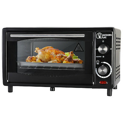 Electric Mini Oven 12L Table Top Grill Tray Roaster Kitchen Toaster Cooker Black
