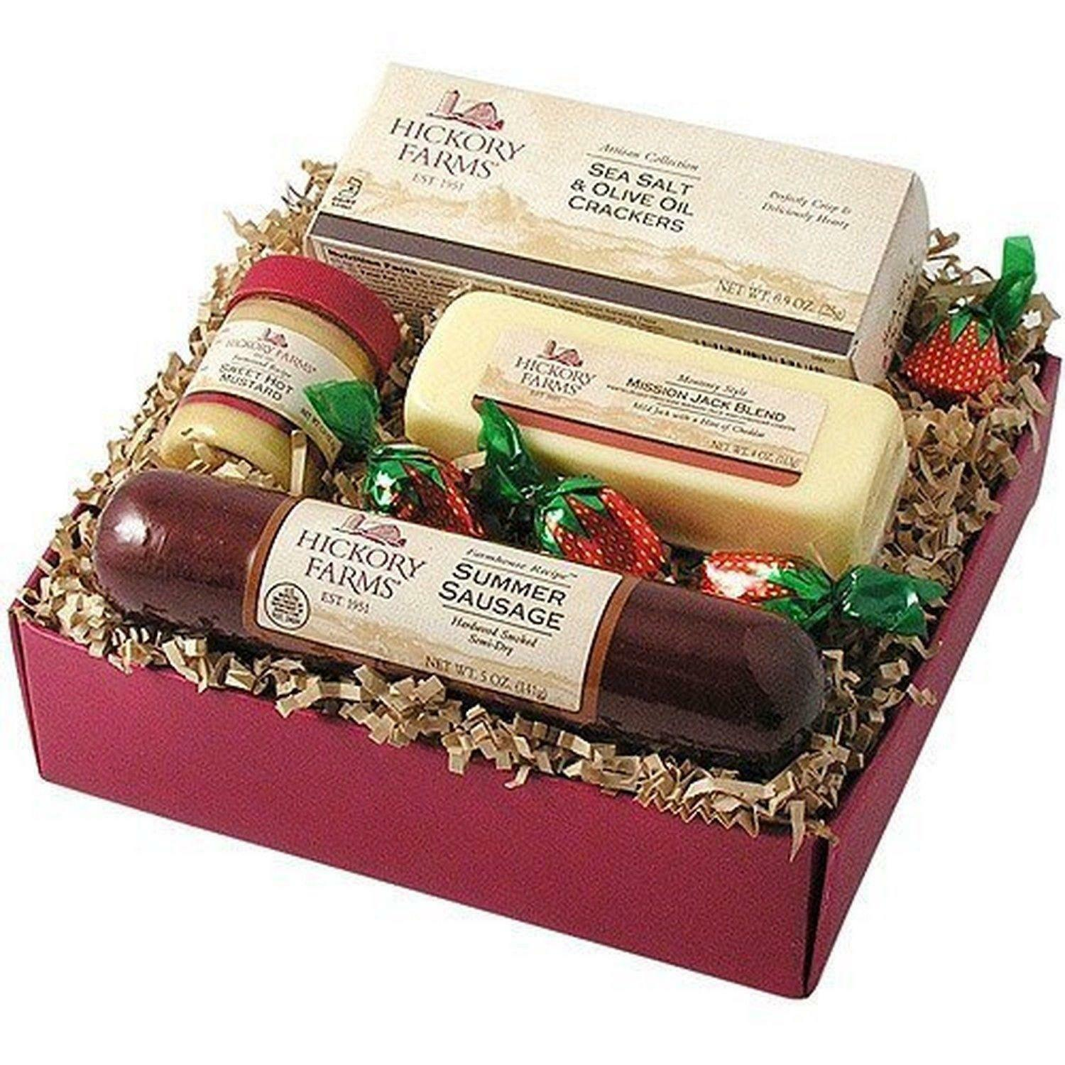 Hickory Farms 4 PC Farmhouse Sausage & Cheese Sampler Holiday Gift ...
