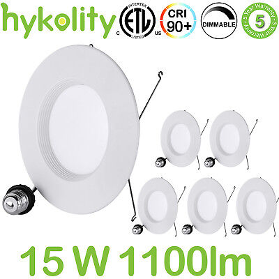 56 Led Dimmable Can Lights Recessed Trim Ceiling Downlight 15w 3000k - 6 Pack