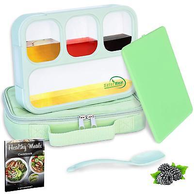 Bento Lunch Box Set | Eco-Friendly, BPA Free, Leakproof Container Airtight Lid