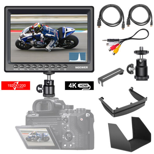 """Neewer F200 7"""" Camera Field Monitor Full HD 1920x1200 IPS w/ 4K HDMI DC Input"""