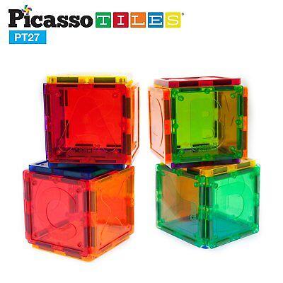 PicassoTiles Magnetic Building Blocks 27pc Alphabet Magnet Tiles Toy PT27