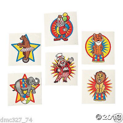 72 Birthday Party Favor CARNIVAL Big Top CIRCUS TATTOOS (Big Top Tattoos)