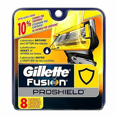 Gillette Fusion ProShield Men's Razor Blade Refills 8 Count Factory Sealed