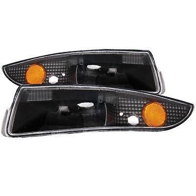 Set of Pair Black Bumper Signal Lights for 1993-2002 Chevrolet - Black Bumper Signal Lights