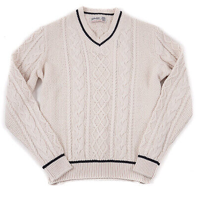 Ballantyne Ltd Edition Cable Knit Cotton-Cashmere Fisherman's Sweater M (Eu 50)