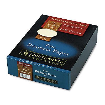 Southworth 25% Cotton Business Paper Ivory 24 lbs. Wove 8-1/2 x 11  500/Box FSC
