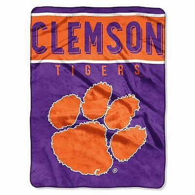 Clemson Tigers - NCAA - Basic Plush Raschel Blanket