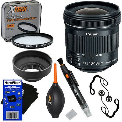 """Canon EF-S 10-18mm f/4.5-5.6 IS """"STM"""" Ultra Wide Zoom Lens + 7pc Accessory Kit for sale  Shipping to South Africa"""