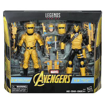 Marvel LEGENDS AIM TROOP BUILDER 6 inch action figure 2 pack HASBRO AVENGERS
