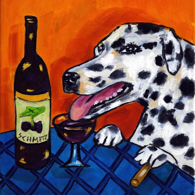 Briard dog art TILE coaster gift JSCHMETZ ceramic wine