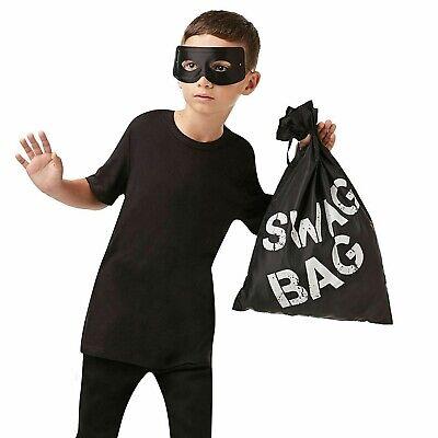 Swag Tasche Sack Räuber Dieb Einbrecher Kostüm Erwachsene Kinder Zubehör - Dieb Kostüm Zubehör