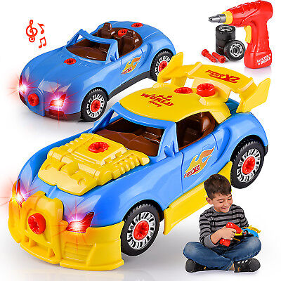 Take Apart Racing Car Toy Construction Set for Boys & Girls Lights & Sounds