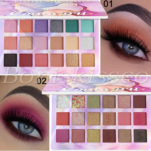 18 Colors Eyeshadow Palette Pigmented Matte Shimmer Metallic