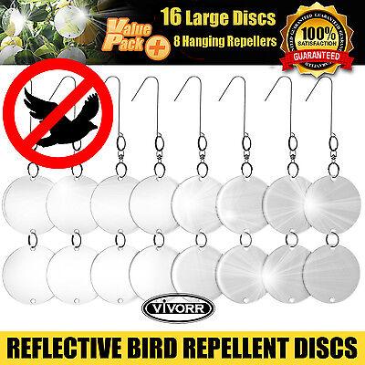 Bird Repellent Discs (16), Reflective Repeller Hanging Device To Keep Birds Away