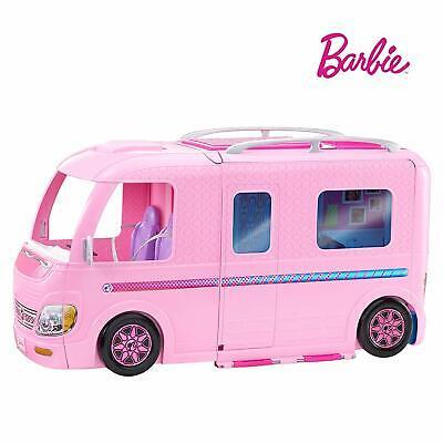 Barbie ESTATE Dream Campervan Pink RV Vehicle Playset Fun Accessories Kids Play