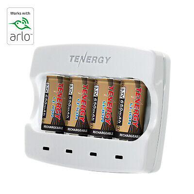 Tenergy Rechargeable Batteries & Charger for Arlo Cameras