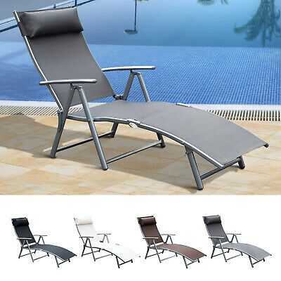 Chaise Lounge Chair Folding Pool Beach Adjustable Patio Furniture Recliner Chaise Folding Recliner