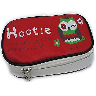 The Hootie Owl Big Capacity Pen Case Stationery Pouch Cosmetic Bag Red Kids Case