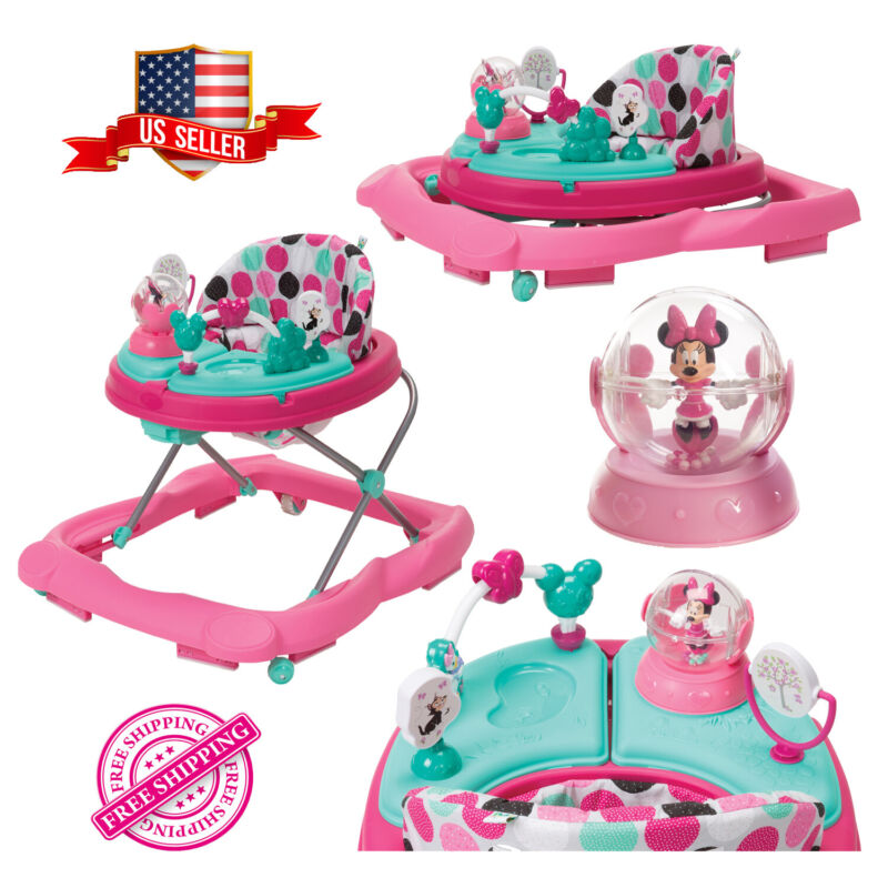Disney Walker Baby Music and Lights With Activity, Snack Tray Minnie Dotty Girls