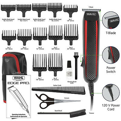 Used, Wahl Pro Corded Hair Beard Trimmer Clipper Edging Lining Up Blade Guards New for sale  Chicago