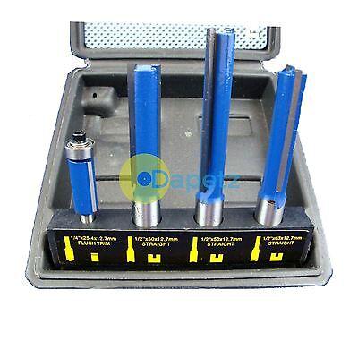 4pc Tct Kitchen Router Worktop Bit Set Tools Kit Cutter Laminate Worktop New
