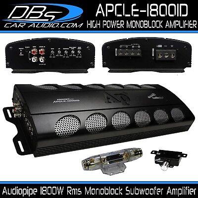 Monoblock Subwoofer Amplifier 1800W Rms Car Audio Amp Audiopipe APCLE-18001D comprar usado  Enviando para Brazil