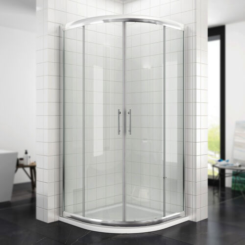 Duschkabine Viertelkreis NANO Echtglas Runddusche Schiebetür Duschabtrennung