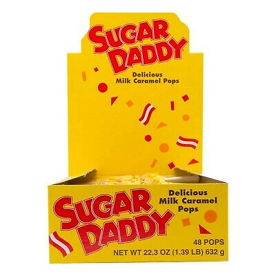 Sugar Daddies Milk Caramel Pops, 48-Count of 0.47 Oz. Pops