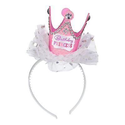 stag Prinzessin Tiara Krone Stirnband Strass Glitzer (Geburtstag-prinzessin-tiara)