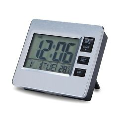 Digital Magnetic Wall & Desk Calendar Alarm Day Clock with Date and Time LCD