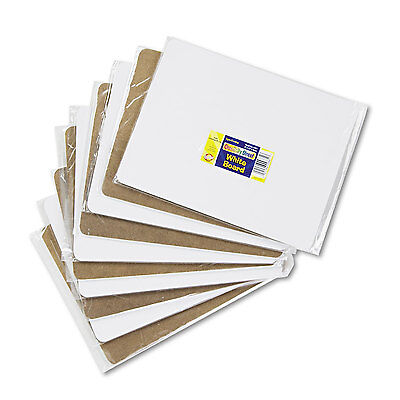 Student Dry Erase Boards - Chenille Kraft Unruled Student Dry-Erase Board Melamine 12 x 9 White 10/Set