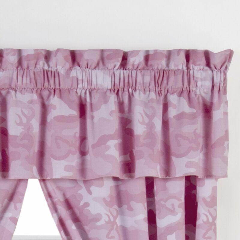Buckmark Camo Valance Color: Pink