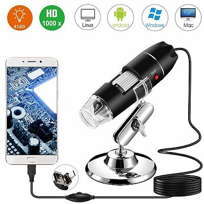 40x-1000x 8 Led Digital Microscope Camera Handheld Usb Magnification Endoscope
