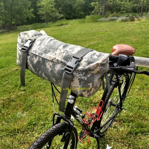 Bike Front Pack - Bicycle Handlebar Mount Storage Bag - Cycling Pouch Fanny Pack