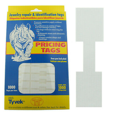 Merchandise Jewelry Price Tag White Square Sticker Style Label 1000 Pcs