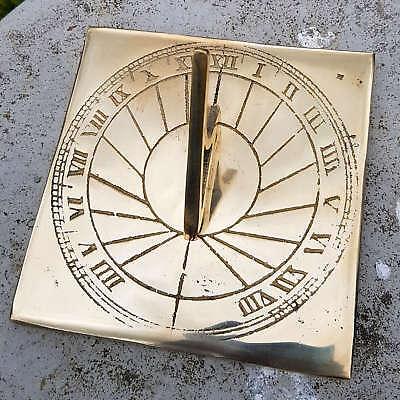 Brass Sundial -  Brass Square Sundial - Garden Sundial