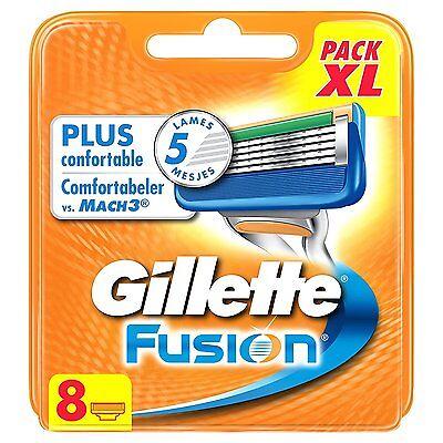 8 Stück Gillette FUSION Rasierklingen NEU & OVP