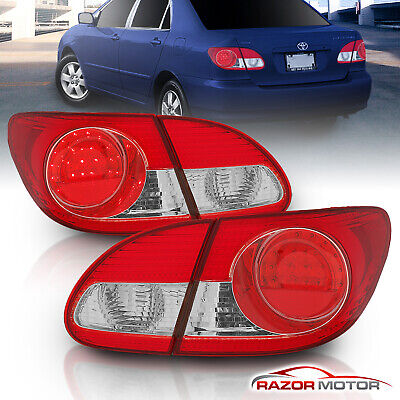 [LED Style]For 2003 2004 2005 2006 2007 2008 Toyota Corolla Tail Lights 05 Toyota Corolla Tail Lights