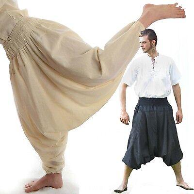 Pluderhose Aladinhose Pumphose Harmeshose Muckhose beige / schwarz aus Baumwolle - Aladin Costumes