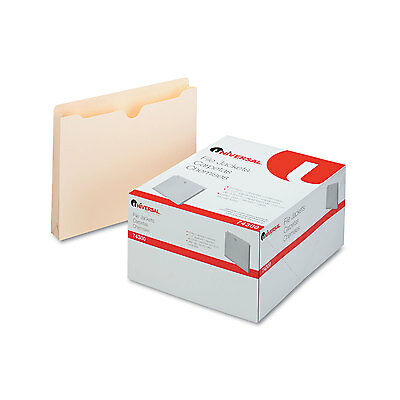 UNIVERSAL Economical File Jackets 1 1/2 Inch Expansion Letter 11 Point Manila 50