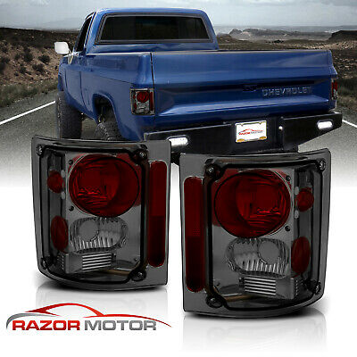 1973-1991 Chevy GM Blazer Suburban Pickup Truck Smoke Tail Lights Pair