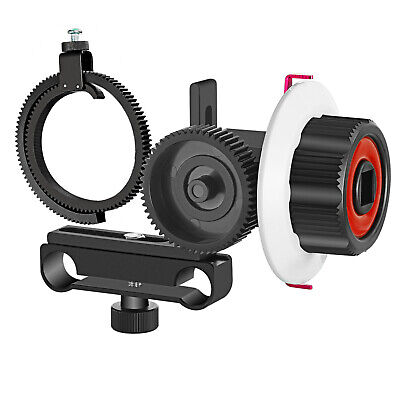 Follow Focus with Gear Ring Belt for Canon Nikon Sony DSLR-Red+Black