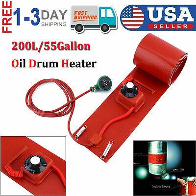 200l55gallon 110v 1000w Silicone Band Drum Heater Oil Biodiesel Metal Barrel Us