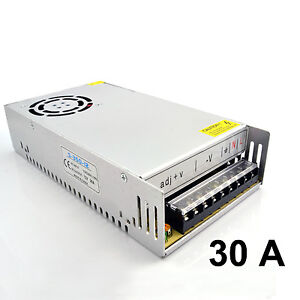 LED Strip Light Driver Power Supply Transformer AC 110 - 240V DC 12V 30A 360W
