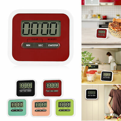 Digital Kitchen Timer Magnetic Cooking Baking LCD Large Count Down Up Loud Alarm
