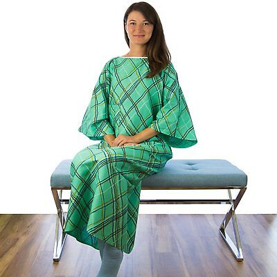 New IV Hospital Grade Patient Gown with Telemetry Pocket - Green - 1 Pack