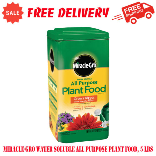 Miracle-Gro Water Soluble All Purpose Plant Food, 5 lbs, Fertilizer, Lawn Care
